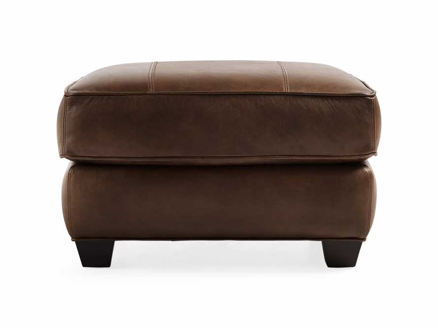 "Hadley Leather 29"" Ottoman in Anilina Hazelnut, slide 2 of 4"