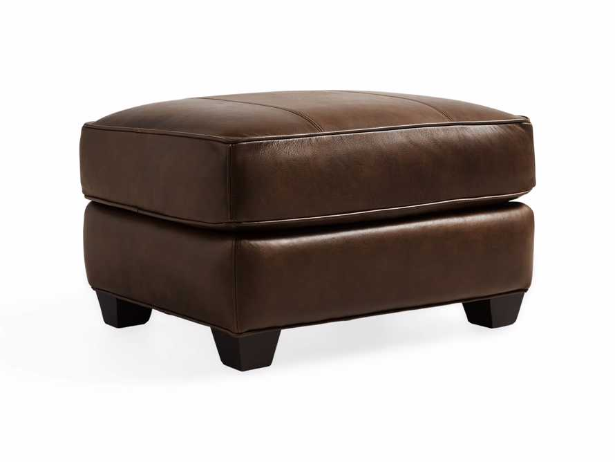"Hadley Leather 29"" Ottoman in Anilina Hazelnut, slide 3 of 4"