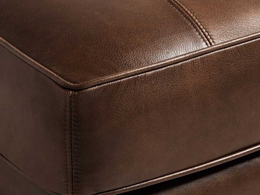 "Hadley Leather 29"" Ottoman in Anilina Hazelnut, slide 4 of 4"