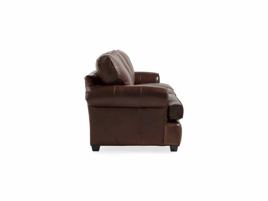 """Hadley 89"""" Leather Sofa in Aniline Hazelnut"""
