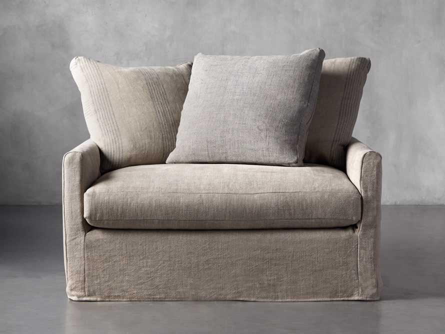 """Kipton Petite Slipcovered 51"""" Scatterback Chair, slide 2 of 9"""