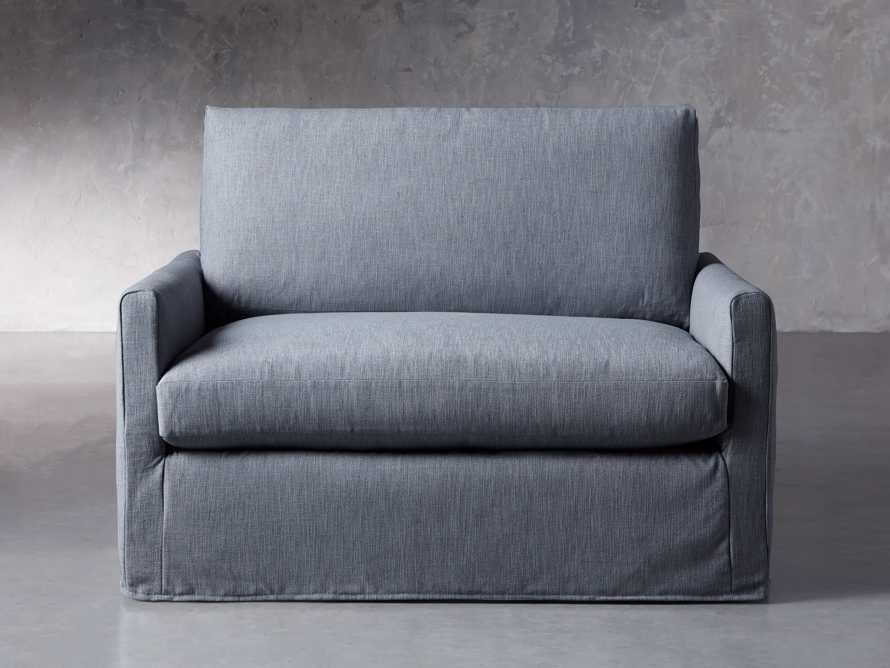 """Kipton Petite Slipcovered 51"""" Chair, slide 2 of 8"""