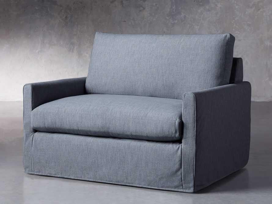 """Kipton Petite Slipcovered 51"""" Chair, slide 3 of 8"""