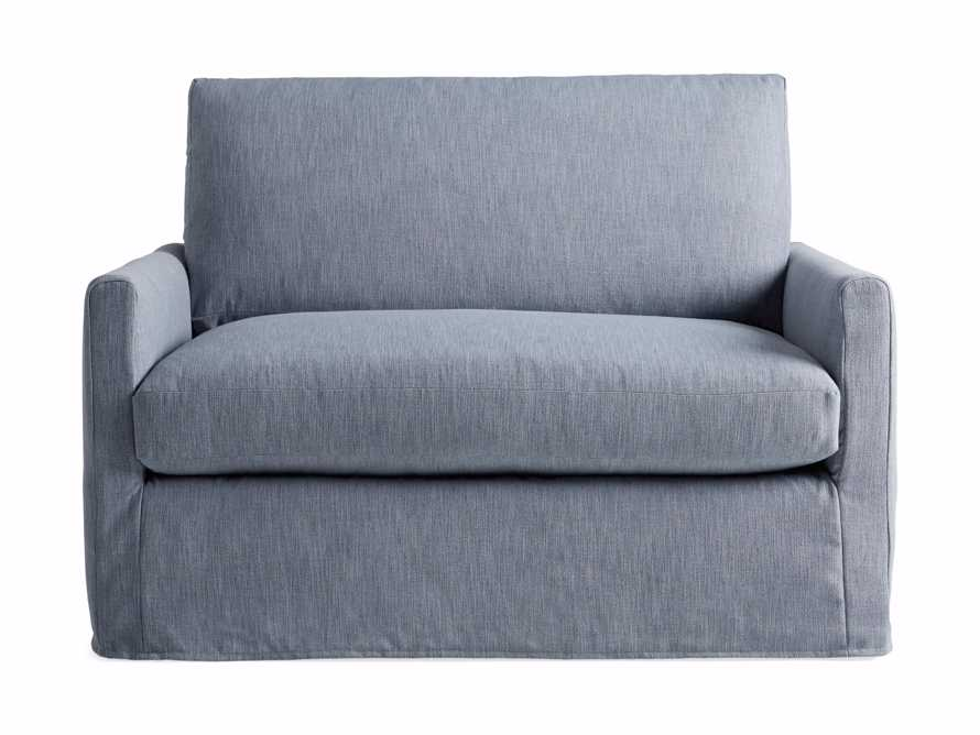 """Kipton Petite Slipcovered 51"""" Chair, slide 7 of 8"""