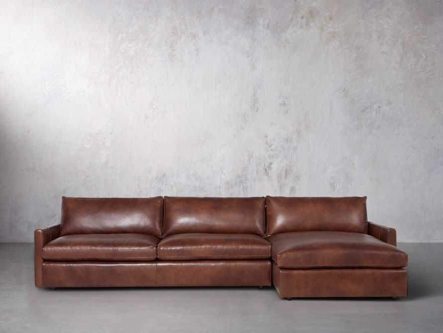 "Kipton Leather 139"" Right Arm Sectional, slide 2 of 7"