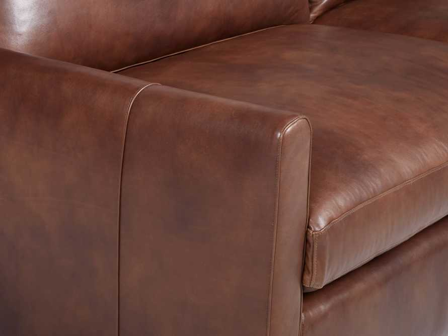 """Kipton Leather 139"""" Right Arm Sectional, slide 5 of 6"""