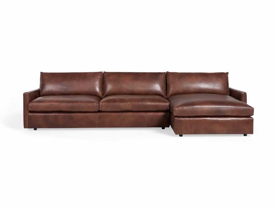 """Kipton Leather 139"""" Right Arm Sectional, slide 6 of 6"""