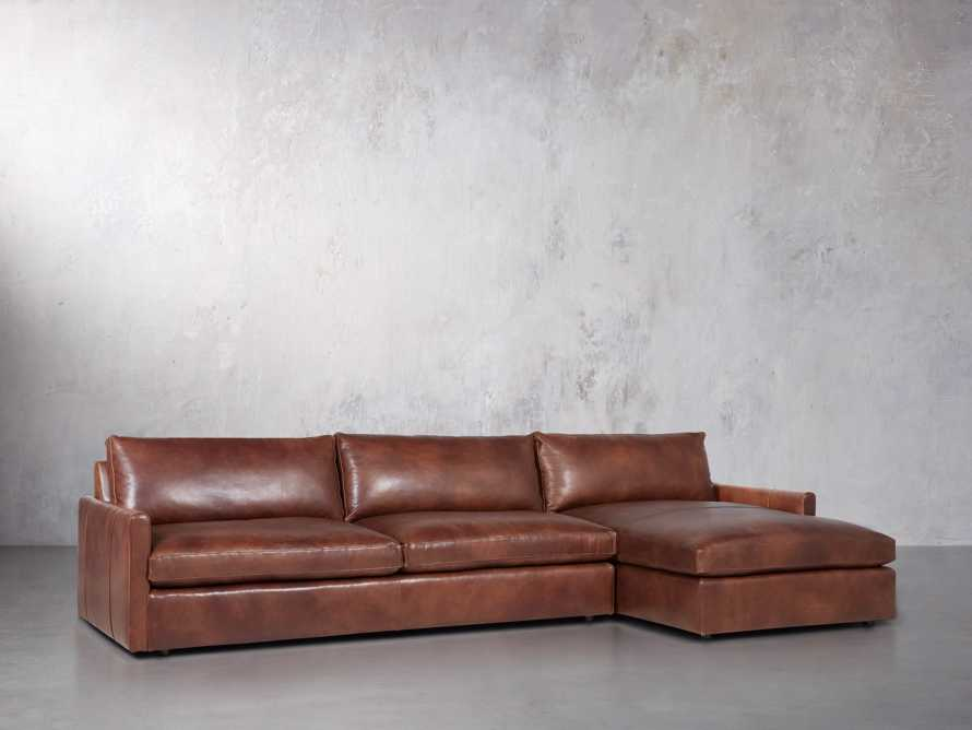 """Kipton Leather 139"""" Right Arm Sectional, slide 3 of 6"""