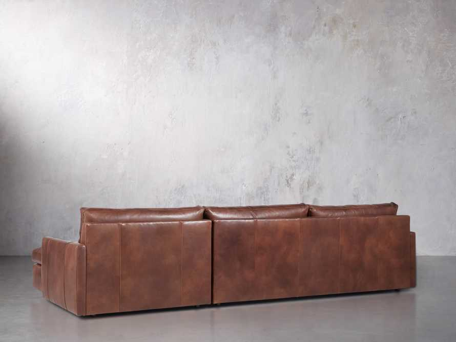 """Kipton Leather 139"""" Right Arm Sectional, slide 4 of 6"""