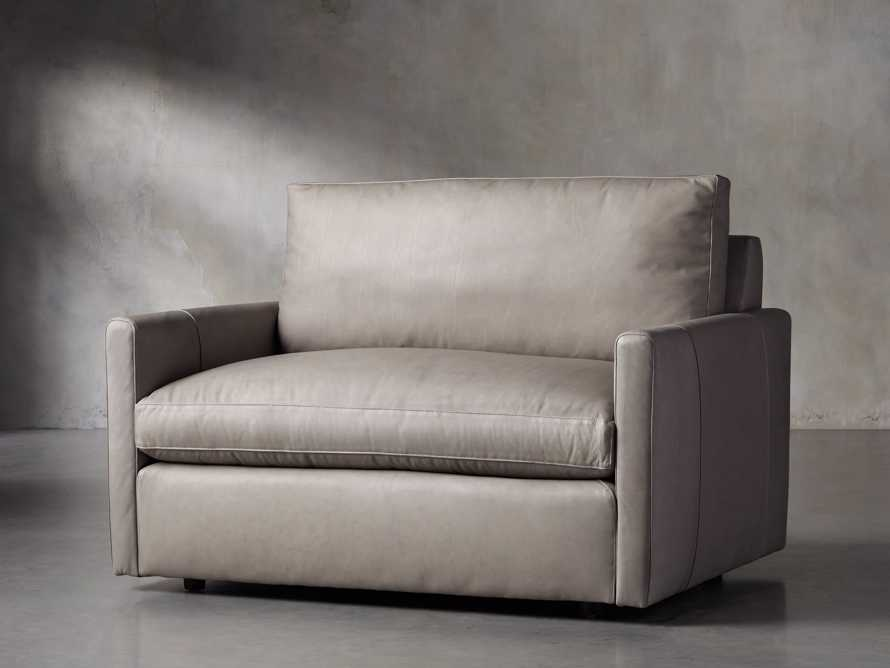 "Kipton Leather 51"" Chair, slide 2 of 7"