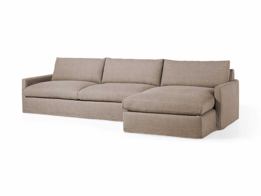 """Kipton Slipcovered 139"""" Right Arm Two Piece Sectional, slide 4 of 8"""