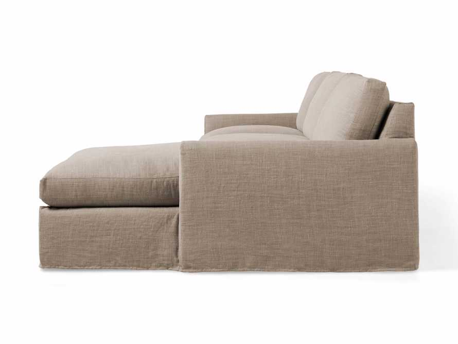 """Kipton Slipcovered 139"""" Right Arm Two Piece Sectional, slide 5 of 8"""