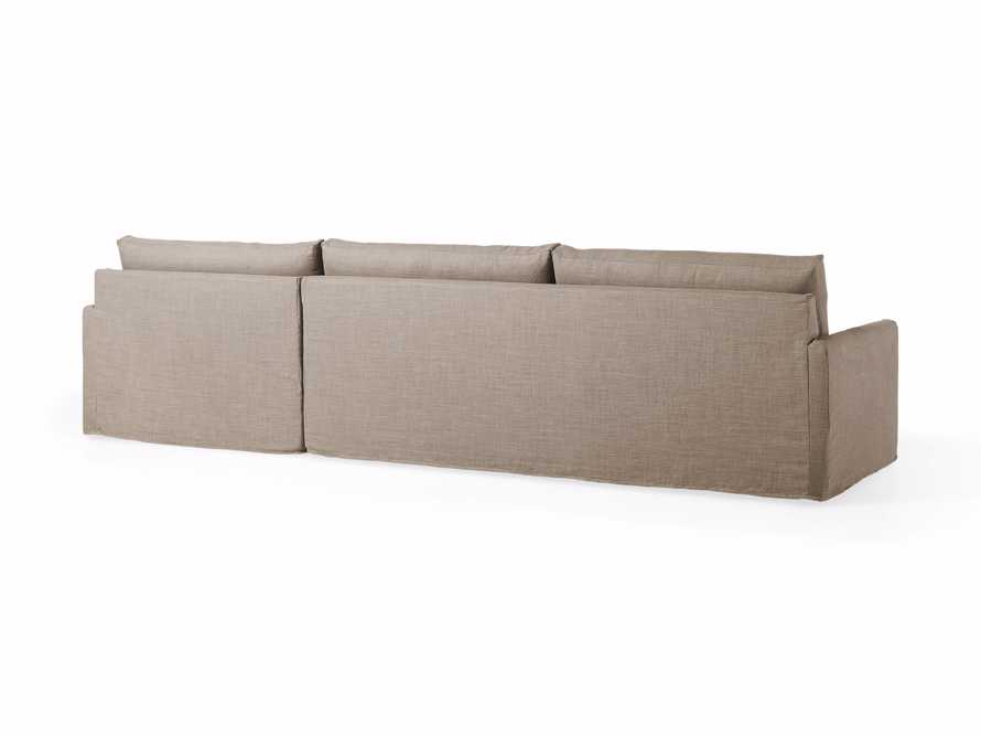 """Kipton Slipcovered 139"""" Right Arm Two Piece Sectional, slide 6 of 8"""