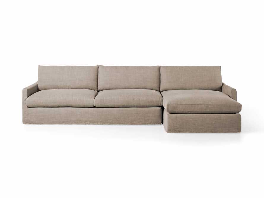 """Kipton Slipcovered 139"""" Right Arm Two Piece Sectional, slide 3 of 8"""