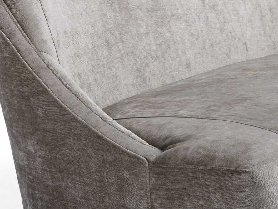 "Laris Upholstered 60"" Settee, slide 8 of 8"