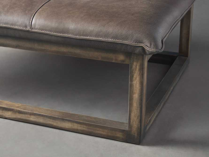"""Ranch Leather 56"""" Rectangle Ottoman, slide 4 of 6"""