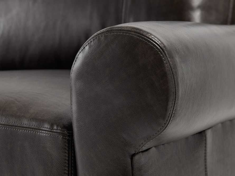 "Rockway Leather 88"" Sofa, slide 6 of 6"
